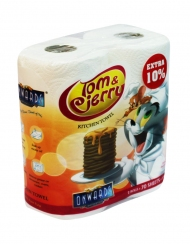 Onwards - Tom & Jerry Kitchen Towel  2 Rolls x 70 Sheets
