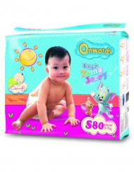 Onwards - Tom & Jerry baby diapers (Mega pack) - S80 (for babies 3-7kg)