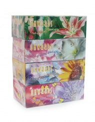 Onwards - Romantic Flower Box Tissues 4 Boxes x 90 Sheets