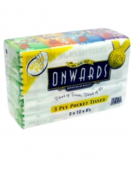 Onwards - Tom & Jerry Packet Tissue5 Tubes x 12 Packs x 8 Sheets x 3 ply