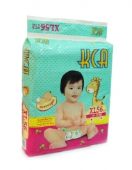 KCA- Baby diapers (Mega pack) - XL56 (for babies 12-17kg)