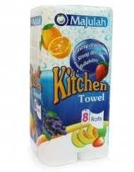 Majulah - Kitchen Towel 8 Rolls X 70Sheets