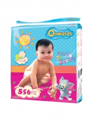 Onwards - Tom & Jerry baby diapers (Jumbo pack) - S56 (for babies 3-7kg)