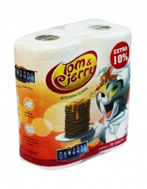 Onwards - Tom & Jerry Kitchen Towel <br/> 2 Rolls x 70 Sheets