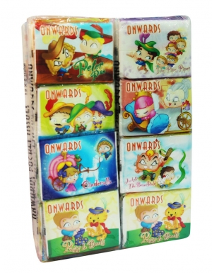 Onwards - Story Packet Tissue<br/> 12 Tubes x 12 Packs x 8 Sheets