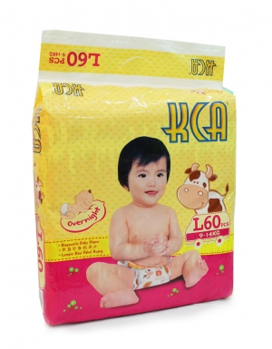KCA- Baby diapers (Mega pack) - L60 (for babies 9-14kg)