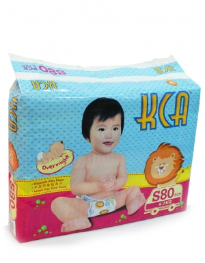 KCA- Baby diapers (Mega pack) - S80 (for babies 3-7kg)