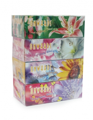 Onwards - Romantic Flower Box Tissues <br/>4 Boxes x 90 Sheets