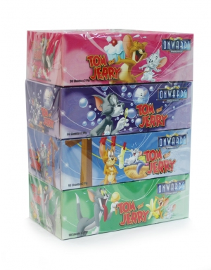 Onwards - Tom & Jerry Box Tissues <br/>4 Boxes x 90 Sheets