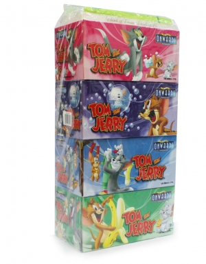Onwards - Tom & Jerry Box Tissues <br/>4 Boxes x 200 Sheets   1TP