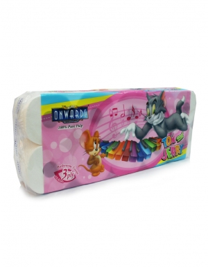 Onwards - Tom & Jerry Bathroom Tissue <br/>10 Rolls x 220 sheets 3ply