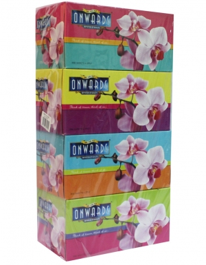 Onwards - Orchid Box Tissue<br/> 4 Boxes x 200Sheets
