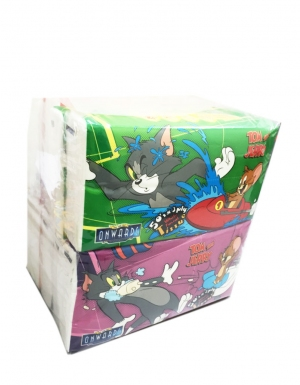 Onwards - Tom & Jerry Travel Pack<br/> 10 packs x 50 sheets x 3ply