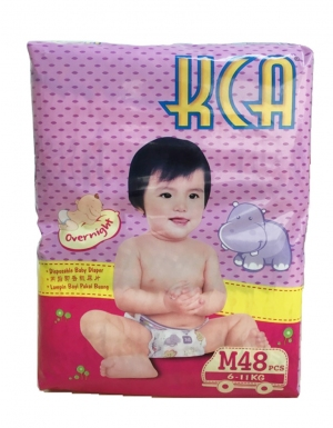 KCA- Baby diapers (Jumbo pack) - M48 (for babies 6-11kg)