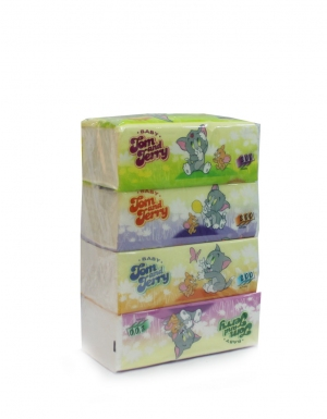 Onwards - Tom & Jerry Infants Soft Travel Pack<br/>4 Packs x 200Sheets